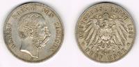 5 Mark 1899 E Sachsen Kursmünze, 5 Mark 18...