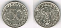 50 Pfennig 1939 F Drittes Reich Drittes Re...