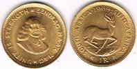 1 Rand 1966  Südafrika, 1 Rand 1969 Rv. Sp...
