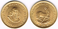 2 Rand 1967  Südafrika, 2 Rand 1967, Rv. S...