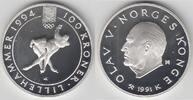 100 Kroner 1991 Norwegen Gedenkmünze  Olym...