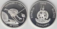 50 Vatu 1992 Vanuatu Gedenkmünze  Weltraum...