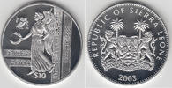 10 Dollars 2003 Sierra Leone Silbergedenkm...