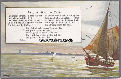 1913 husum k nstlerkarte ansichtskarte postkarte die graue. Black Bedroom Furniture Sets. Home Design Ideas