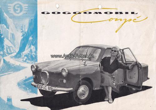 Um 1958 Bundesrepublik Deutschland Auto Prospekt Werbeanzeige Goggomobil Coup Hans Glas 3