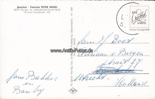 Sauerland Karte Berge.O J Berge Meschede Ansichtskarte Postkarte Gasthof Nagel Berge Sauerland 2 3