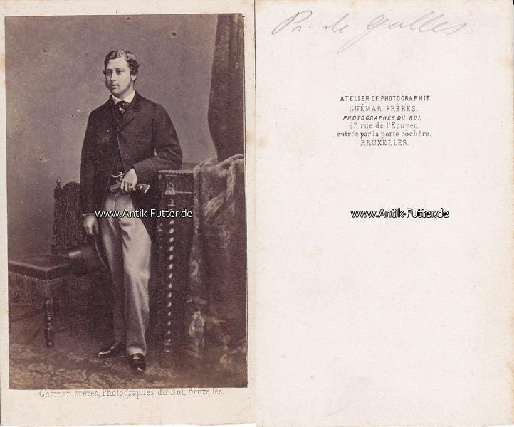 Um 1865 Wales England Carte De Visite CdV Kabinettfoto Prinz Von 2