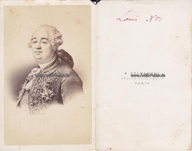 Um 1865 Frankreich Navarra Carte De Visite CdV Louis Ludwig XVI August Von 3
