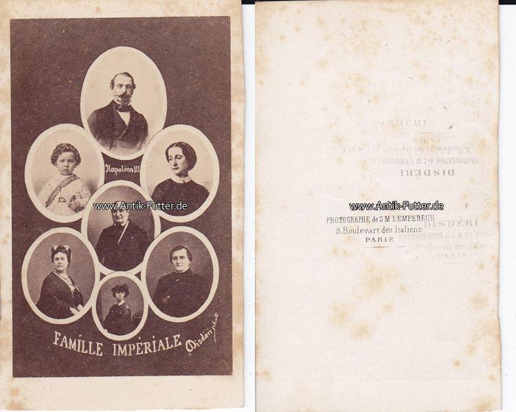 Um 1865 Frankreich Carte De Visite CdV Famille Imperiale