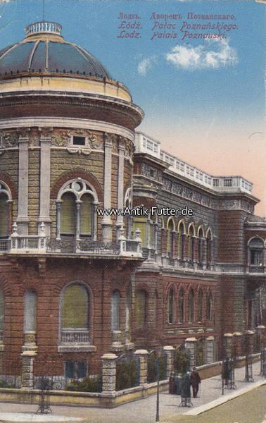 1917 Lodzpolen Ansichtskarte Postkarte Mit Brief Stempel Der