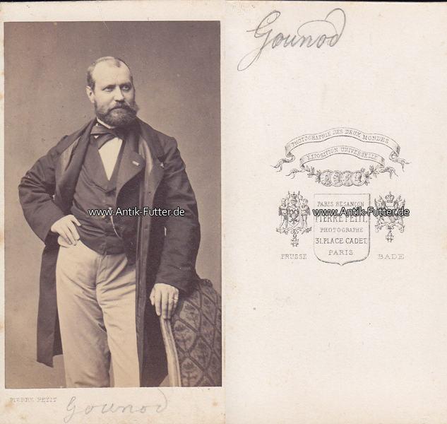 Um 1870 Paris Frankreich Carte De Visite CdV Kabinettfoto Charles Francois Gounod Komponist 2 3