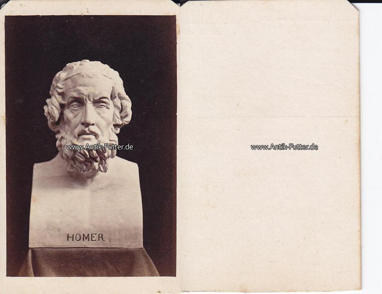 Um 1860 Grichenland Carte De Visite CdV Homer Autor Dichter 3