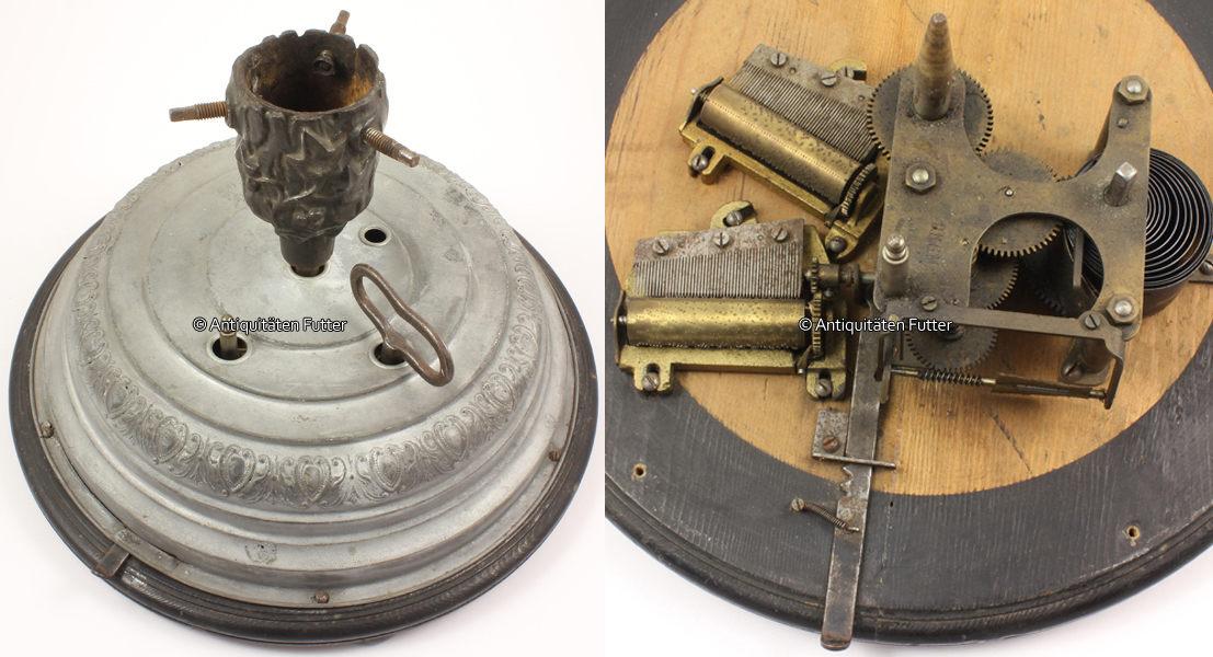 Um 1900 Stuttgart Drehbarer Christbaumständer Mit Spieluhr Und 2 Walzen /  J. C. Eckardt 2 3