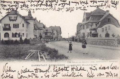 1906 Darmstadt Bessungen Hessen Ansichtskarte Postkarte