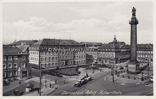 1939 Darmstadt Ansichtskarte Postkarte Darmstadt Adolf Hitler