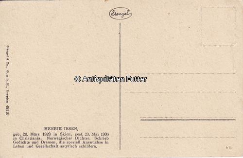 Oj Deutsches Reich Ansichtskarte Postkarte Henrik Ibsen Stengel Co Gmbh 2 3