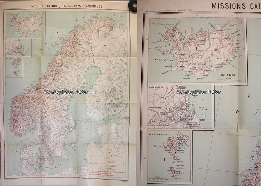 Karte Norwegen Schweden.1909 Skandinavien Danemark Norwegen Schweden Karte Katholische Vertretungen Der Skandinavischen Lander 2 3