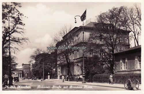 Braunes Haus o j münchen ansichtskarte postkarte braunes haus mit stempel 2 ma