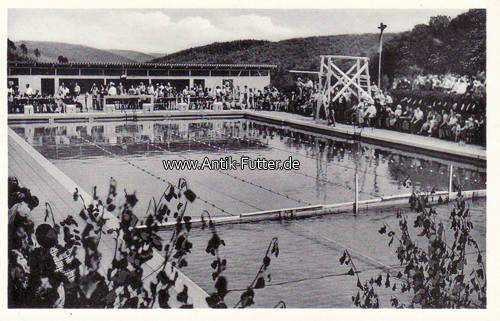 1953 michelstadt vielbrunn ansichtskarte postkarte for Schwimmbad shop