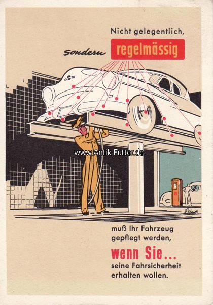 O.J. Bundesrepublik Deutschland Werbekarte Shell/Nicht gelegentlich ...