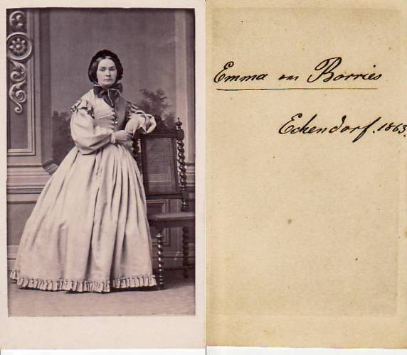 Carte De Visite CdV Kabinettphoto Emma Von Borries Echendorf 2