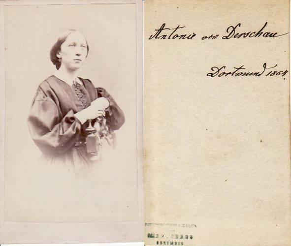 1864 Preussen Carte De Visite CdV Kabinettphoto Antonie Von Derschau Dortmund 2