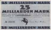 25 Milliarden 15.10.1923 Preussen / Westfa...