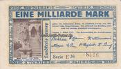 1 Milliarde Mark 1.10.1923 Lennep/Rheinlan...