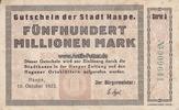 500 Millionen Mark 10.10.1923 Haspe/Westfa...