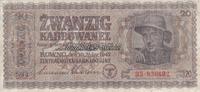 20 Karbowanez 10.3.1942 Ukraine Besatzungs...