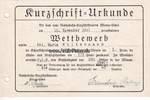 1931/1938 Deutsches Reich Kurzschrift=Urk...