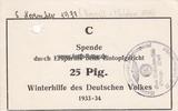 1933 Drittes Reich/Werl WHW / Spende durc...