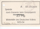 1933 Drittes Reich/Werl/Soest WHW / Spend...