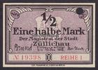 1/2 Mark 30.12.1918 Züllichau / Brandenbur...