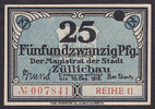25 Pfg. 30.12.1918 Züllichau / Brandenburg...