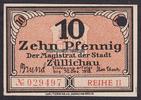 10 Pfg. 30.12.1918 Züllichau / Brandenburg...