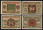 4 x 75 Pf 15.7.1921 Lennep / Rheinland Sta...