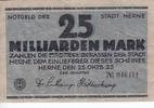 25 Milliarden Mark 25.10.1923 Herne / West...