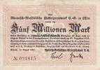 5 Million Mark 15.8.1923 Essen / Rheinland...