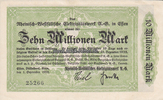 10 Million Mark 1.9.1923 Essen / Rheinland...