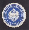 O.J. Paris/Frankreich Siegelmarke / Versc...