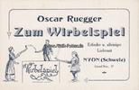 O.J. Nyon/Schweiz Reklameblatt / Oscar Ru...