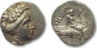 AR Tetrobol 196-146 B.C ANCIENT GREECE Eub...