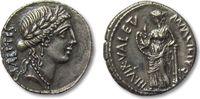 AR denarius 49 B.C. ROMAN REPUBLIC Mn. Aci...