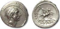 AR denarius 56 B.C. ROMAN REPUBLIC L. Marc...