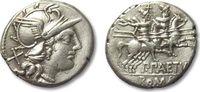 AR denarius 138 B.C. ROMAN REPUBLIC P. Ael...
