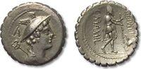 AR denarius 82 B.C. ROMAN REPUBLIC C. Mami...