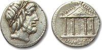 AR denarius 78 B.C. ROMAN REPUBLIC M. Volt...