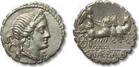 AR denarius 79 B.C. ROMAN REPUBLIC C. Naev...
