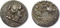 AR Denarius 96 B.C. ROMAN REPUBLIC A. Albi...